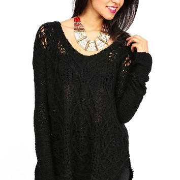 Shag Cut Knit Sweater