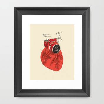Beat of Life Framed Art Print by Ilovedoodle