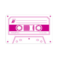 Cassette Tape - Flat Notes (Magenta)