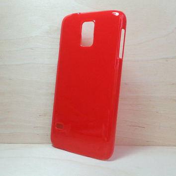 Hard Plastic Case for Samsung Galaxy S5 - Red