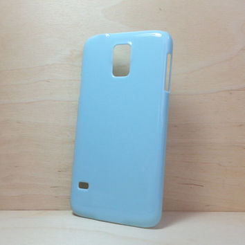 Hard Plastic Case for Samsung Galaxy S5 - Light Blue