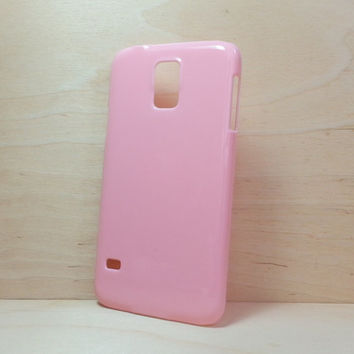 Hard Plastic Case for Samsung Galaxy S5 - Light Pink