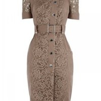 Amazon.com: NoeMIe Vintage Lace Dress,Brown,S: Clothing