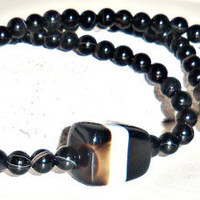"Men's Necklace- Genuine Onyx  ""Legendary"""