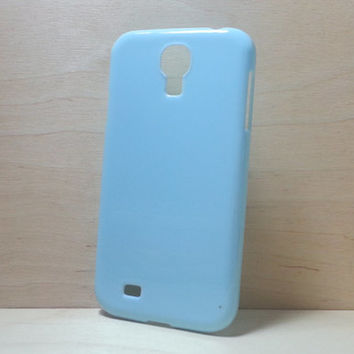 Hard Plastic Case for Samsung Galaxy S4 - Light Blue