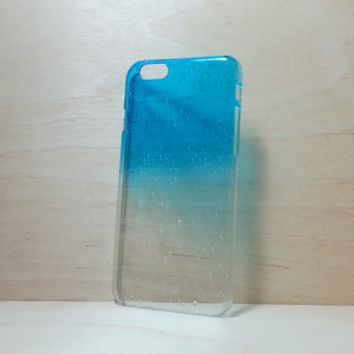 3D Water Droplets Hard Plastic Case for iPhone 6 (4.7 inches) - Azure Blue