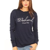 Wildfox Walk of Shame Weekend Tee in Oxford | Boutique To You