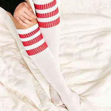 Three-Stripe Sporty Knee-High Sock - Urban Outfitters