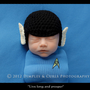 The Newborn Spock Hat Prop