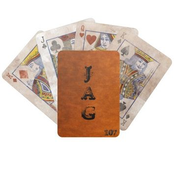 Burnt Orange Distressed Playing Cards