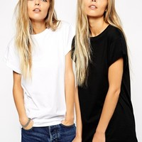 ASOS Ultimate Easy T-Shirt 2 Pack SAVE 20%