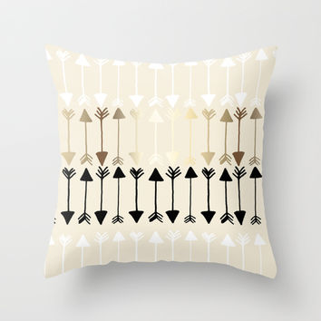 Arrows Throw Pillow by Tangerine-Tane