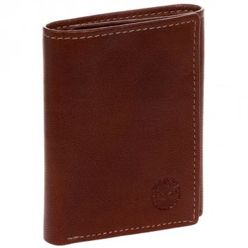 Timberland Brown Genuine Leather Colorado Trifold Wallet