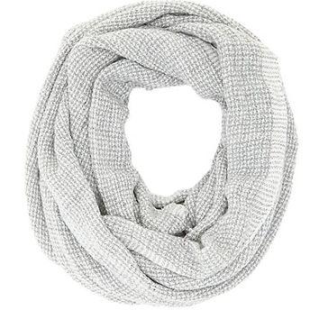 Houndstooth Infinity Scarf by Charlotte Russe - Lt Gray Combo