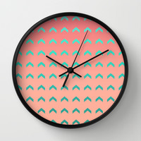 Going Up Wall Clock by Lisa Argyropoulos