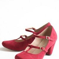 maddy corduroy pumps by Chelsea Crew at ShopRuche.com