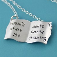 Belle's Book Necklace -