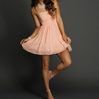 Pink Charm Chiffon Dress