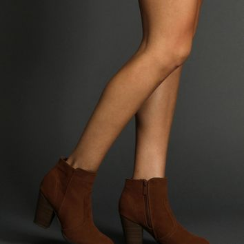 Tan Faux Suede Ankle Boots