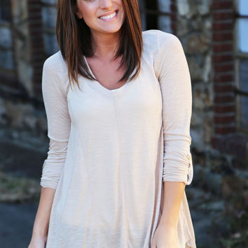 Chestnut Basic Tunic