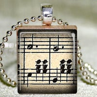 Waltz Music Scrabble Pendant With N.. on Luulla