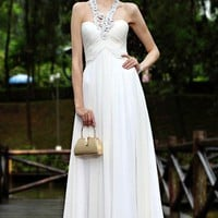Filament Halter Sweetheart Empire Long Prom Dresses - Basadress.com