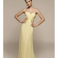 Simple charming Chiffon, Charmeuse Sweetheart A-Line bridesmaid dress - Basadress.com