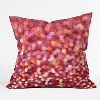 Lisa Argyropoulos Holiday Cheer Sparkling Wine Throw Pillow - Indoor /