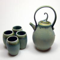 Copper Green Tea Set