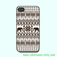 iphone 4 case - African  elephant, cute iphone 4 case, iphone 4S case in plastic or silicone,color in black or white or clear