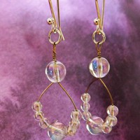 Crystal Ball Quartz Earrings