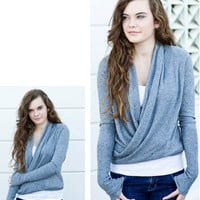Dimgray Wrap Cardigan [3262] - $42.00 : Vintage Inspired Clothing &amp; Affordable Summer Dresses, deloom | Modern. Vintage. Crafted.