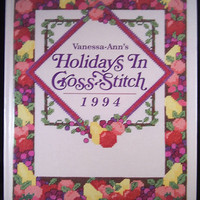 Cross Stitch charts book. Vanessa Ann's Holidays In Cross-Stitch 1994