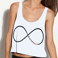 One Direction Infinity Directioner Cropped Tank - new and improved design