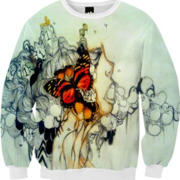 Where The Butterfly Lays Sweater created by artofprincessm | Print All Over Me