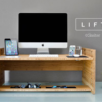 LIFT - Upgrade Your Standard Desk to a Sit-to-Stand, Smart-Desk (free US shipping)