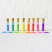 Micro Day Glo Krystal Kandy -  8 Mini Vials of Neon Rainbow Glitter