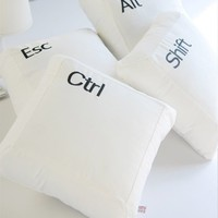 Esc Alt Shift Ctrl Designed Pillow
