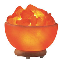 Himalayan Salt Hand Carved Bowl Lamp