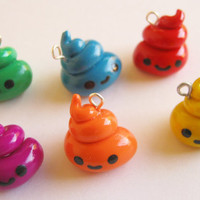 Cute Rainbow Poop Charms