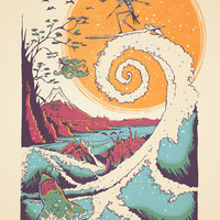 Surf Before Christmas Art Print by Victor Vercesi | Society6