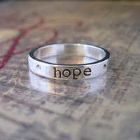 Personalized Ring - Hand Stamped Jewelry - Personalized Jewelry - Name Ring - ALEXA Stackable Ring Sizes 5 6 7 8
