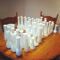 48 Milk Vases, 47% off | Recycled Bride