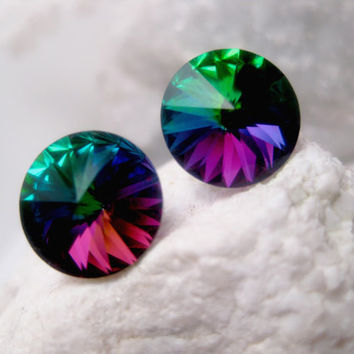 Dazzling Hues Crystal Earrings - Swarovski Elements