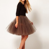 ASOS Full Skirt in Mesh at asos.com