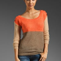 Splendid Barcelona Stripe Top in Flame/Sand/Camel from REVOLVEclothing.com