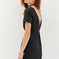 Glamorous Short-Sleeve Satin Mini Dress - Urban Outfitters