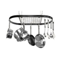 Amazon.com: Innova Classicor Wrought-Iron Oval Pot Rack: Kitchen & Dining