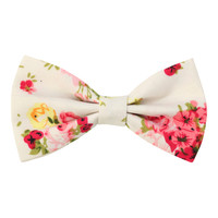 Vintage Flower Hair Bow