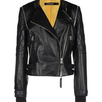 Cara d x Dkny Leather Outerwear - Cara d x Dkny Leatherwear Women - thecorner.com